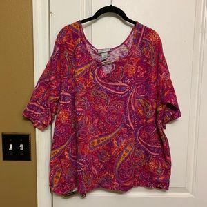 Women's Catherine  2X. 22/24W Short sleeve Blouse